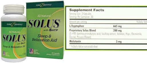 Solus Sleep Formula All Natural 60 Cap