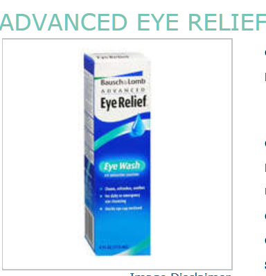 Bausch & Lomb Acvanced Eye Relief Eye Wash - 4 Fl oz Bottle