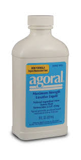 Agoral Maximum Strength Laxative Liquid 8 oz One Case Of 12