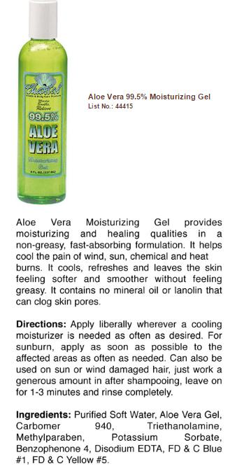 Aloe Vera 99.5% Moisturizing Gel