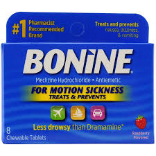 Bonine 25mg Chew Tablet 16 Count