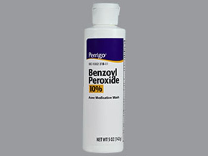 Benzoyl Peroxide 10 % Liquid 5 oz By Perrigo Co 1 Case of 48