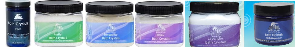 White Egret Bath Crystals Clarity 16 Oz