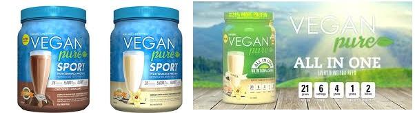 Vegan Pure Nutritional Shake Choclt 14.8 Oz