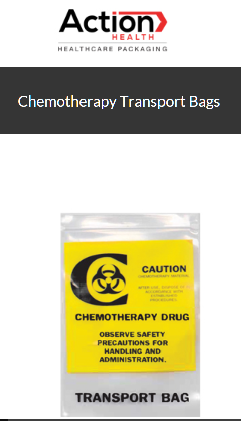 Chemotherapy Transport Bags Zip Bags One Case of 500, Transport 12W x 15H, 4 MIL