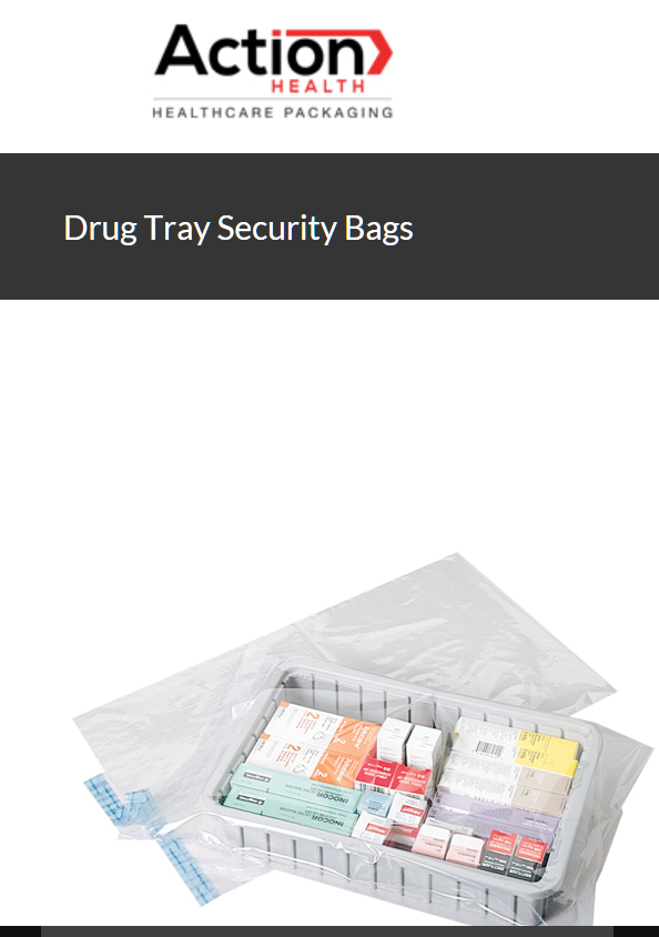 Drug Tray Security Bags Zip Bag One Case of 100, 14W x 22H, 2 MIL, Tamper Eviden