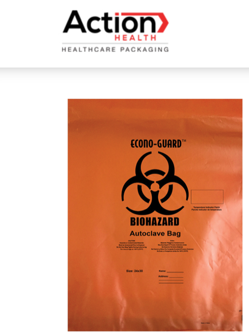 Econo-Guard Orange Autoclave Bags One Case of 200, Polypropylene Biohazard Autoc