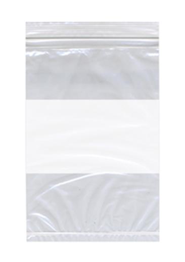 Zip Bag Econo White Block Reclosable Bags One Case Of