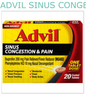 ADVIL SINUS 20 by PFIZER CONSUMER HEALTHCARE