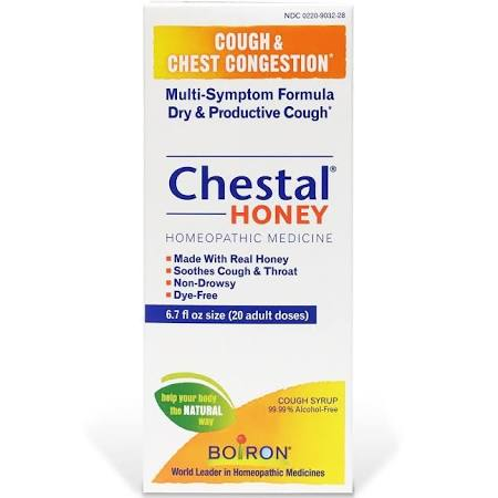 Chestal Cold 6.7 oz By Boiron . Item No.:4401152 NDC No.: UPC No.: 306969067284 Item Description: Cough, Cold, Flu & Sinus Liqui Other Name:Chestal Cold Therapeutic Code: Therapeutic Class: Allergy, C
