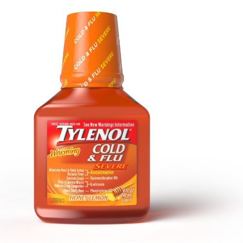 Tylenol Liquid Warming Day Honey Lemon 8 oz