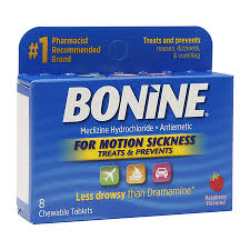Bonine 25mg Chew Tablet 8 Count By Emerson