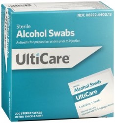 Alcohol Swab 200 Count Ulticare