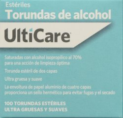 '.ALCOHOL SWAB 100CT ULTICARE.'