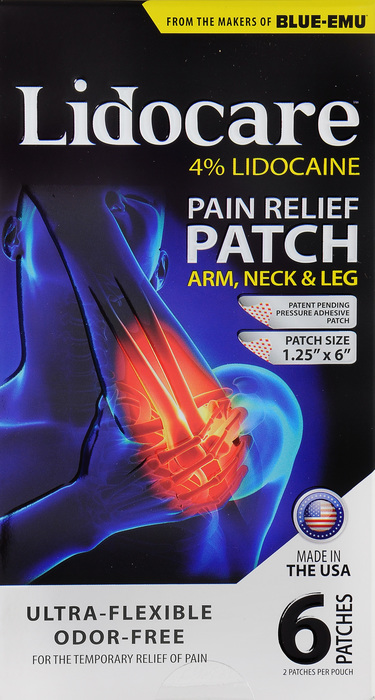 '.LIDOCARE ARM NECK LEG PATCH 6C.'
