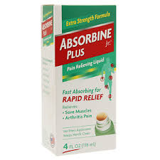 Absorbine Jr Plus Pain Relief Liquid 4 oz