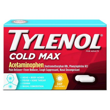 Case of 24-Tylenol Cold Multi Symptom Caplets For Adults - 24 Coun