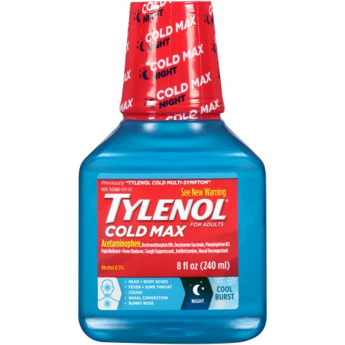 Tylenol Cold Sore Throat Liquid Cool Burst - 8 Fl oz