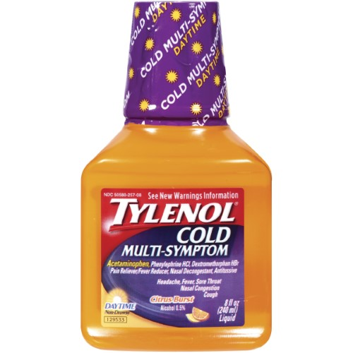Tylenol Cold Multi Symptoms Liquid Citrus Burst 8 oz