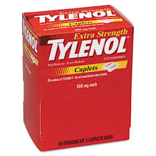 Case of 24-Tylenol Extra Strength 500 mg Tab 50 X 2 Ct