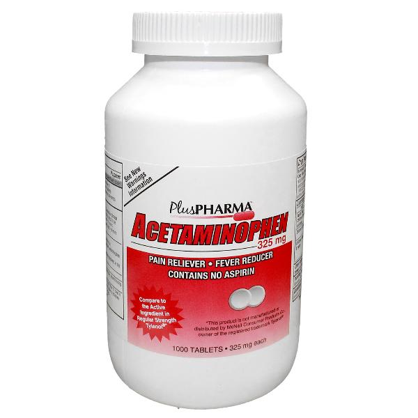 Acetaminophen 325 mg Generic Tylenol Tab 1000 By Plus Pharma(Gemini)