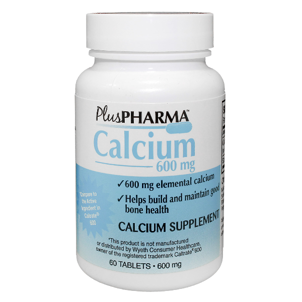 Calcium 600 mg Tab 60 By Plus Pharma Generic Caltrate