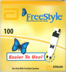 Freestyle Test Strips 100Ct Retail pack Freestyle Stp 100 By Abbott Diabetes Care Sales Item No.:4444935 Ndc No.: 99073012101   99073-0121-01 99073-121-01  9907312101  Upc No.: 699073121011 Item Descr