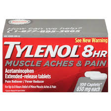 Tylenol 8 Hr Muscle Aches & Pains 100 Count