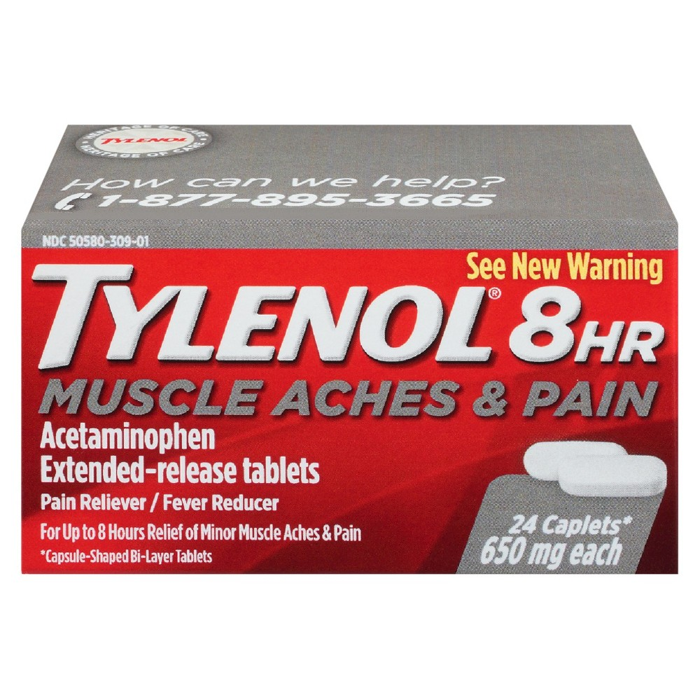 Tylenol 8 Hr Muscle Aches & Pains 24 Count