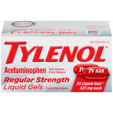 Tylenol Regular Strength Liquid Gels 20 Count