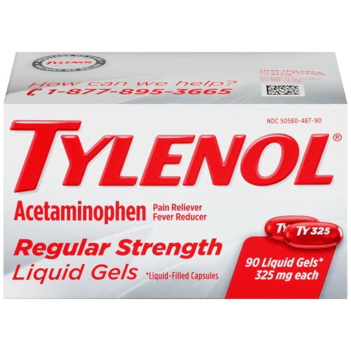 Tylenol Regular Strength Liquid Gels 90 Count