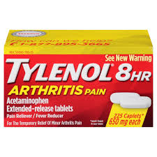 Tylenol Arthritis Pain Extended Release Acetaminophen Pain Reliever 650 mg Caple