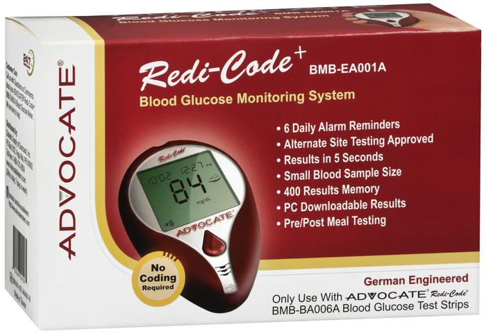 Advocate Redicode Plus Glucose Meter by Pharma Supply