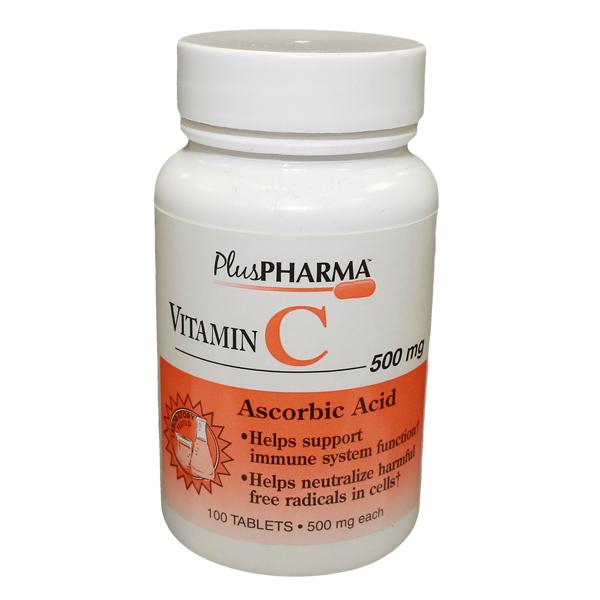 Vitamin C 500 mg Tab 100 By Plus Pharma(Gemini)