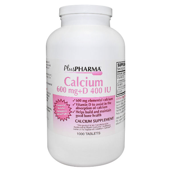 Calcium + D3 600 Mg-400 Tab 1000 By Plus Pharma Generic Caltrate