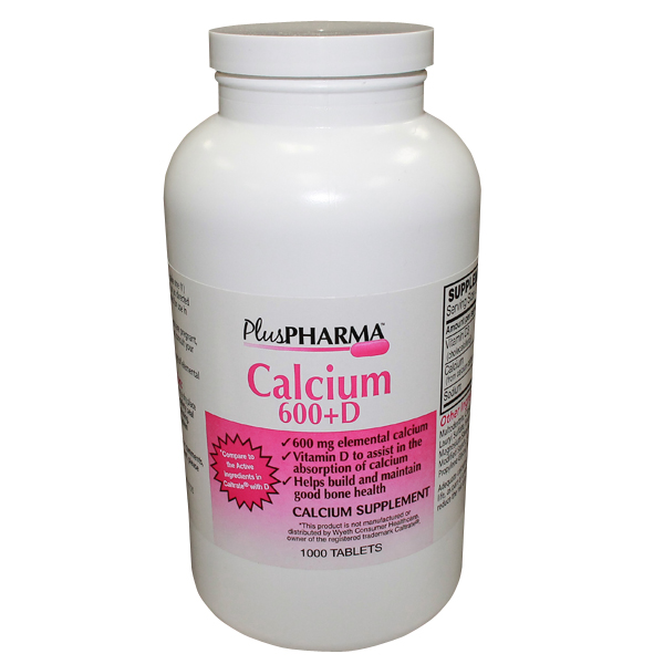 Calcium + D3 600 Mg-200 Tab 1000 By Plus Pharma Generic Caltrate