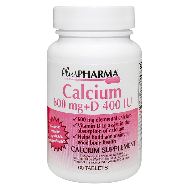 Calcium + D3 600 Mg-400 Tab 60 By Plus Pharma Generic Caltrate