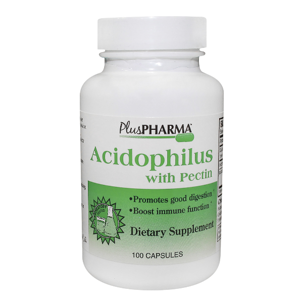 Acidophilus plus Pectin Cap 100 By Plus Pharma Inc