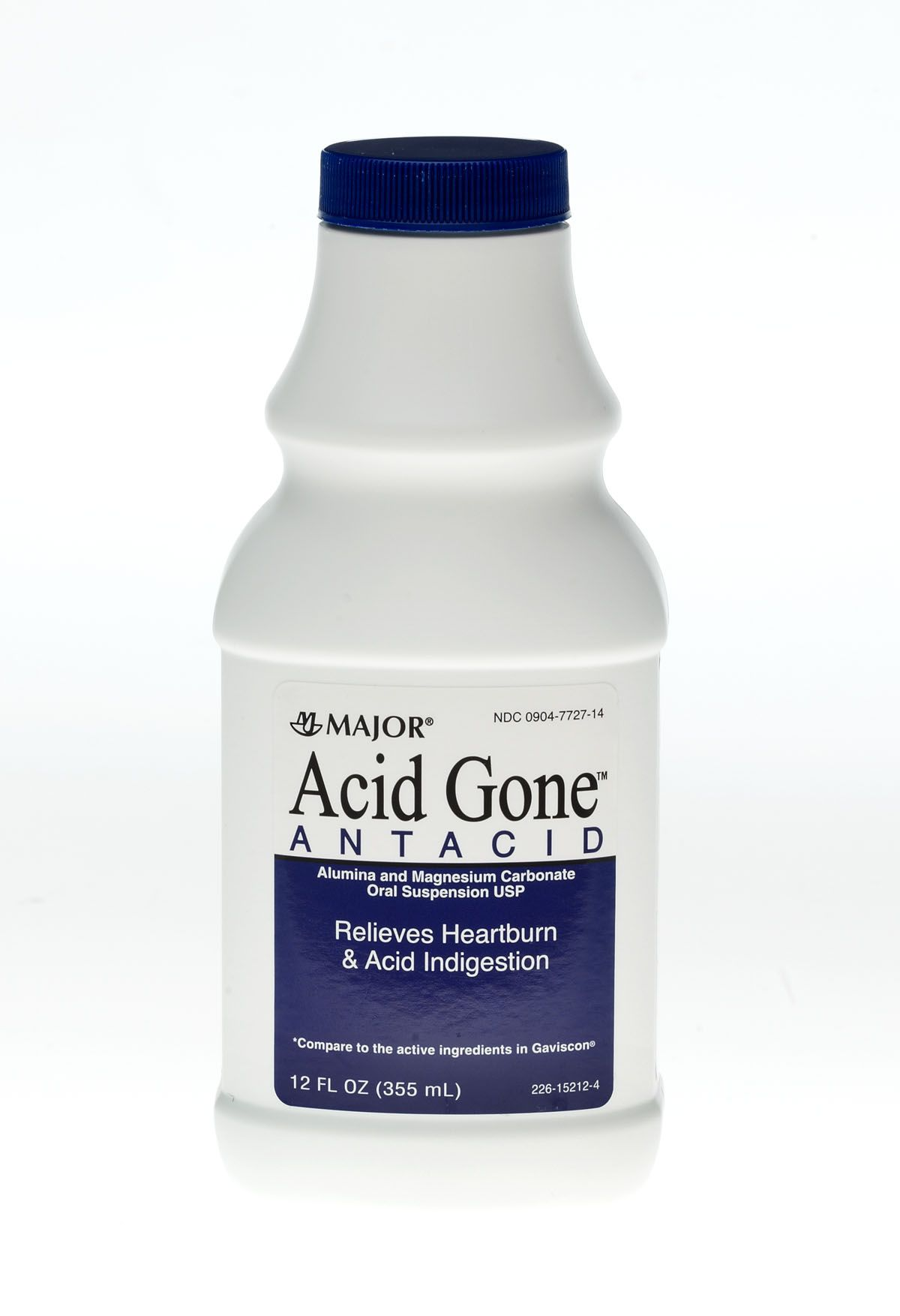 Acid Gone Antacid Liquid 12 oz By Major Pharma Gen Gaviscon