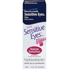 Bausch & Lomb Sensitive Eyes Plus Saline Solution - 12 oz bottle