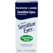 Bausch & Lomb Sensitive Eyes Rewetting Drops - 1 fl oz bottle