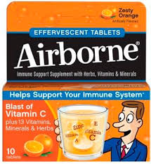Airborne Tablet Orange 10 Count By Reckitt Benckiser