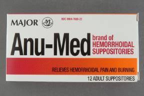 Anu-Medium New Formula Suppository 12 By Major Pharma