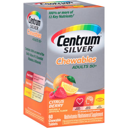 Centrum Silver Multivitamin Supplement Tablets 60
