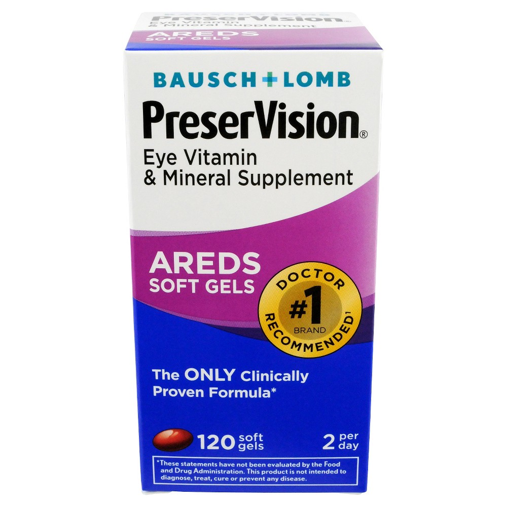 PreserVision Vitamin & Mineral Supplement with Lutein, Softgels - 120 count