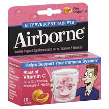 Airborne Tablet Grapfruit 10 Count By Reckitt Benckiser