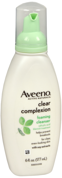 Aveeno Clear Complxion Cleansing Foam 6 oz case of 12 by J&J