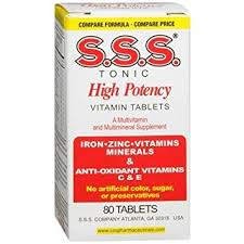 S.S.S. Multivit High Potency Tablet 80Ct By S.S.S. Company