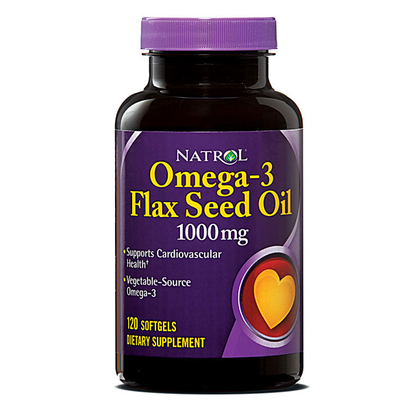Natrol Flaxseed 1000mg Bonus Soft Gelatin Caps 120 Count