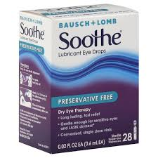 Soothe Lubricant Eye Drops - 28 pack, 0.02 fl oz vials